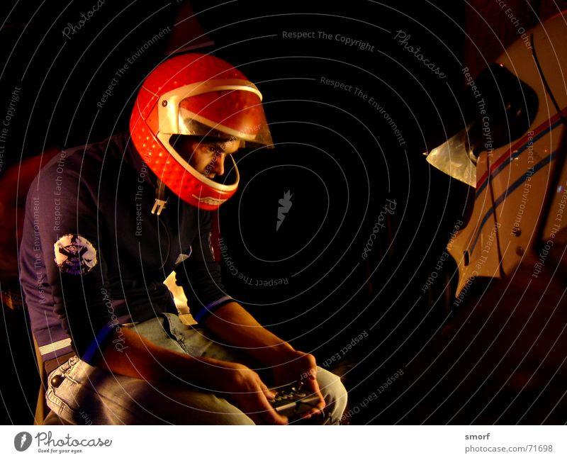 TotalZocker rot dunkel Spielen Stil Aktion Computerspiel Freak Helm Spieler Playstation Koblenz Joypad
