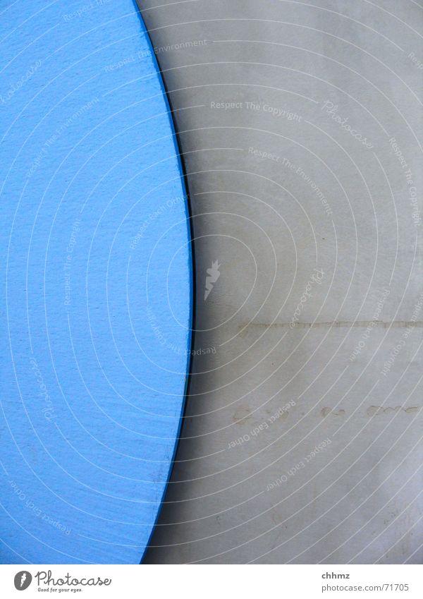 Kreissegment blau grau Beton Teile u. Stücke Fuge Nut Zement Mainz