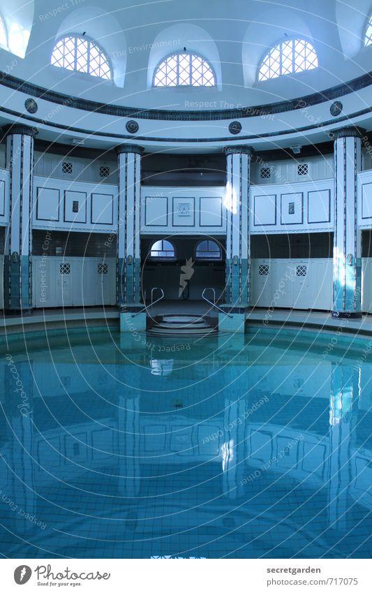 HALLE/S TOUR | blaumachen Fitness Wellness Erholung ruhig Kur Spa Halle (Saale) Schwimmbad Bauwerk Gebäude Architektur Sehenswürdigkeit Wasser Coolness