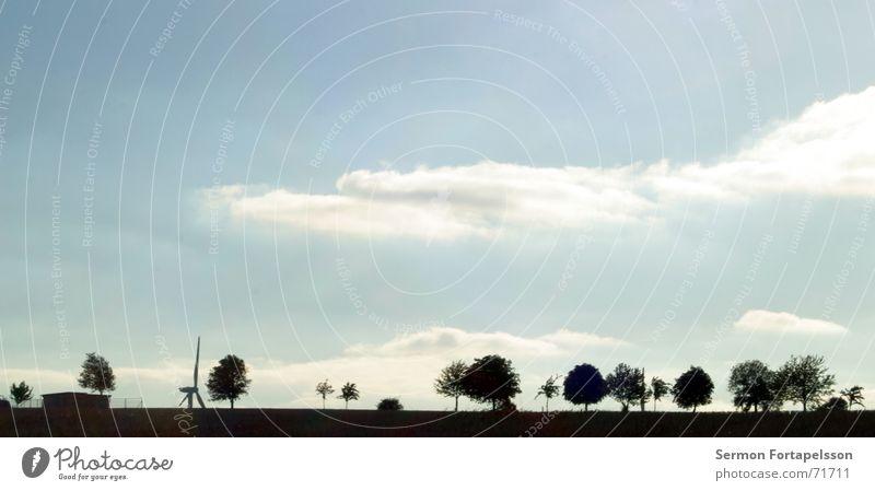 provinz, skyline II bunt Himmel Baum Sommer Wolken Einsamkeit Haus Wald Wiese Traurigkeit Feld Wind Energiewirtschaft Elektrizität Ast Dorf Landwirtschaft