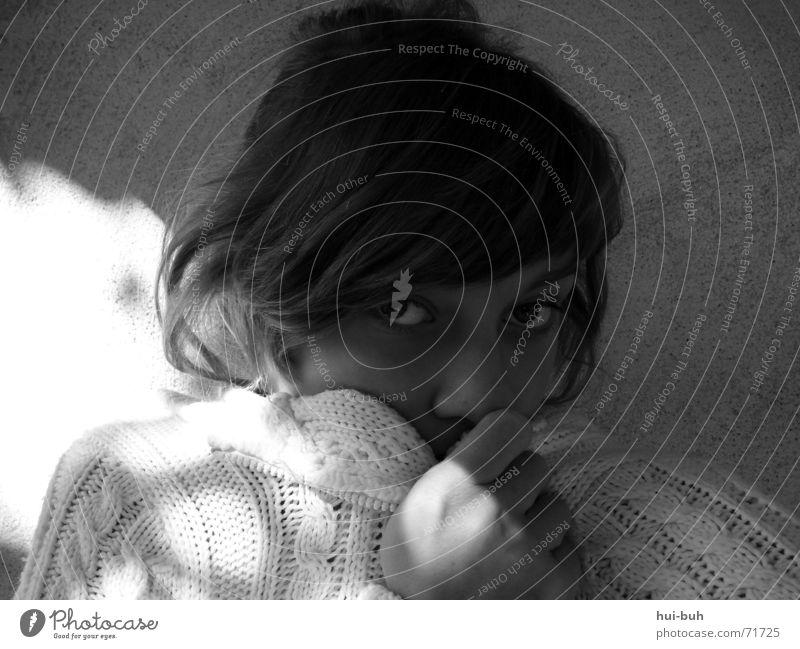 licht und schatten Mensch Wärme planen Physik Pullover Idee Schüchternheit kuschlig angenehm beerdigen