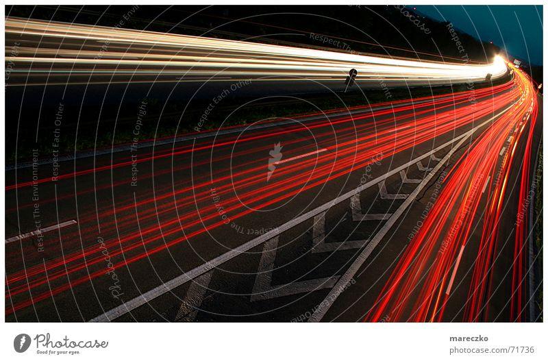 Strasse Straße PKW Schilder & Markierungen Autobahn Straßenbeleuchtung Autobahnausfahrt Bremslicht
