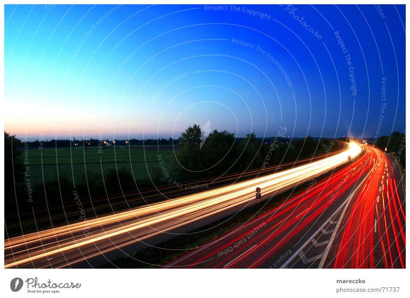 Strasse II Bremslicht Nacht Autobahn Straßenbeleuchtung PKW Licht Autobahnausfahrt Schilder & Markierungen