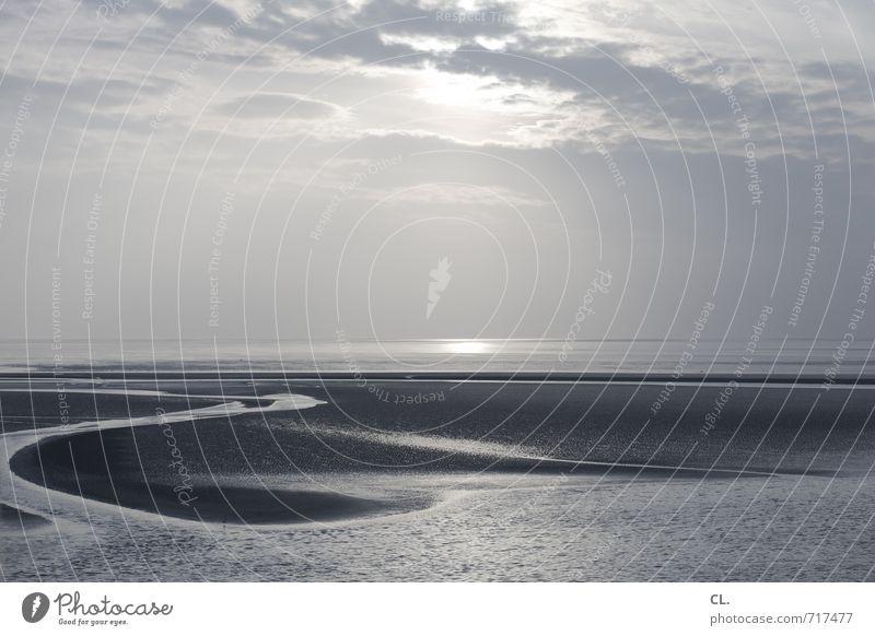 endlos Himmel Natur Ferien & Urlaub & Reisen Wasser Sonne Meer Landschaft ruhig Wolken Ferne Strand Umwelt Küste Freiheit Wellen Tourismus