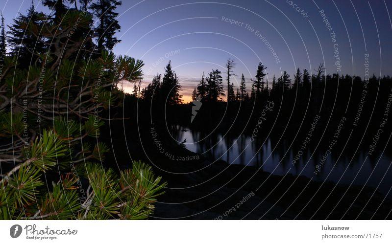 Desolation Valley 2 Ferien & Urlaub & Reisen ruhig Wald Berge u. Gebirge träumen See wandern Klarheit Spiegel Tanne Glätte Fichte
