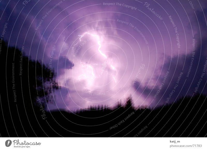 Blizzard {der Himmel brennt} Unwetter Blitze Donnern Wolken Nacht Nordlicht Gewitter groll Wetter