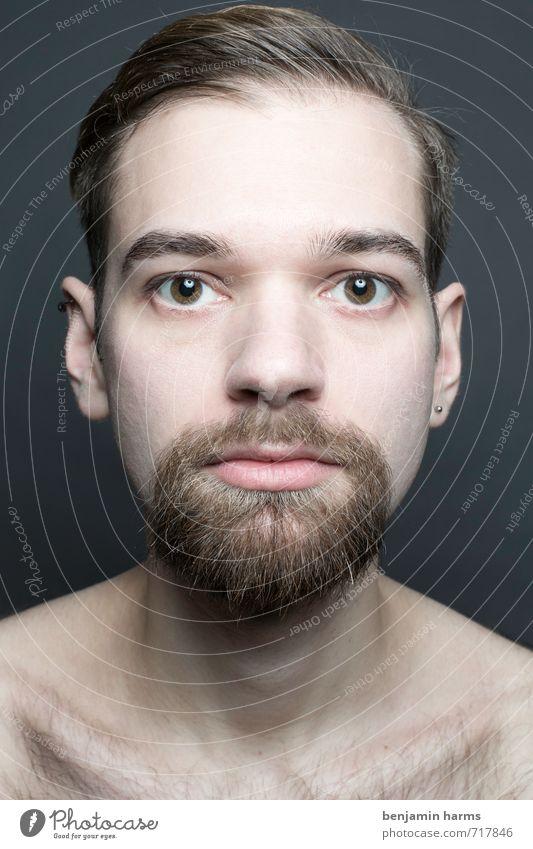 change #1 Mensch Jugendliche 18-30 Jahre Junger Mann Erwachsene Kopf maskulin Wandel & Veränderung Bart brünett Vollbart Scheitel