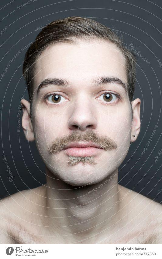 change #3 maskulin Junger Mann Jugendliche Kopf 1 Mensch 18-30 Jahre Erwachsene Scheitel Bart Oberlippenbart Vollbart Wandel & Veränderung Farbfoto