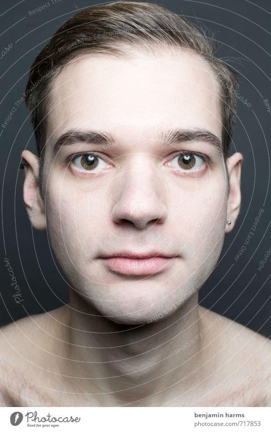 change #5 maskulin Junger Mann Jugendliche Kopf 1 Mensch 18-30 Jahre Erwachsene brünett Scheitel Bart Oberlippenbart Vollbart Wandel & Veränderung Farbfoto