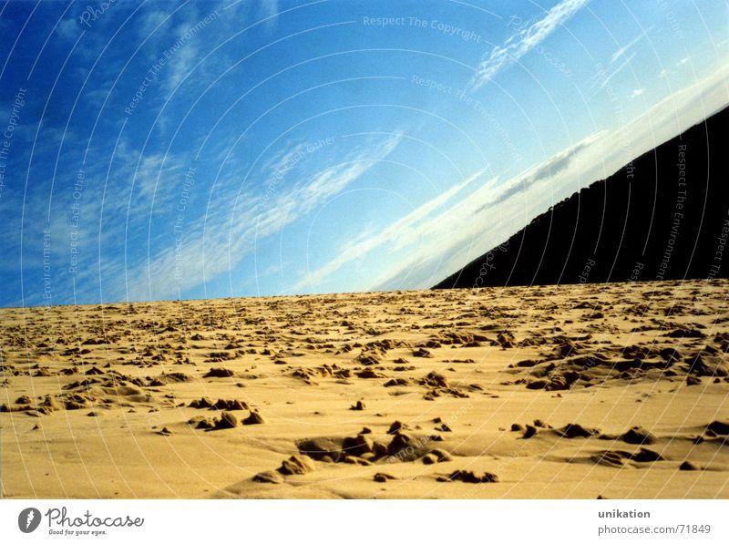 Weltraum Himmel blau Strand Wolken Erde verrückt Weltall Surrealismus Arcachon