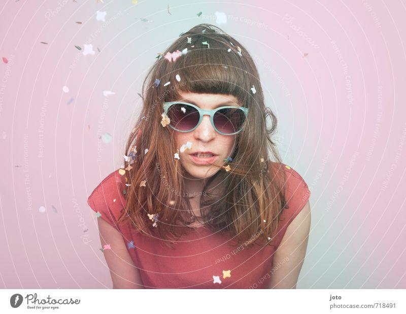 cool Jugendliche Junge Frau Freude Erotik feminin Feste & Feiern wild Geburtstag Lebensfreude Coolness retro trendy Silvester u. Neujahr Karneval Sonnenbrille Leichtigkeit