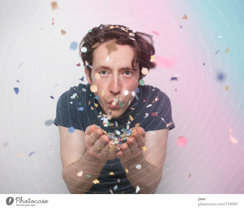 for you! Jugendliche Mann Freude Junger Mann Erwachsene Leben Bewegung Feste & Feiern Stimmung Party wild Zufriedenheit Geburtstag frei Lebensfreude Coolness