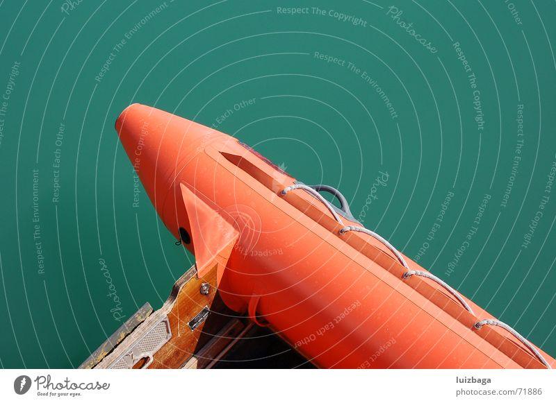 boat Strand sea sail orange rescue day