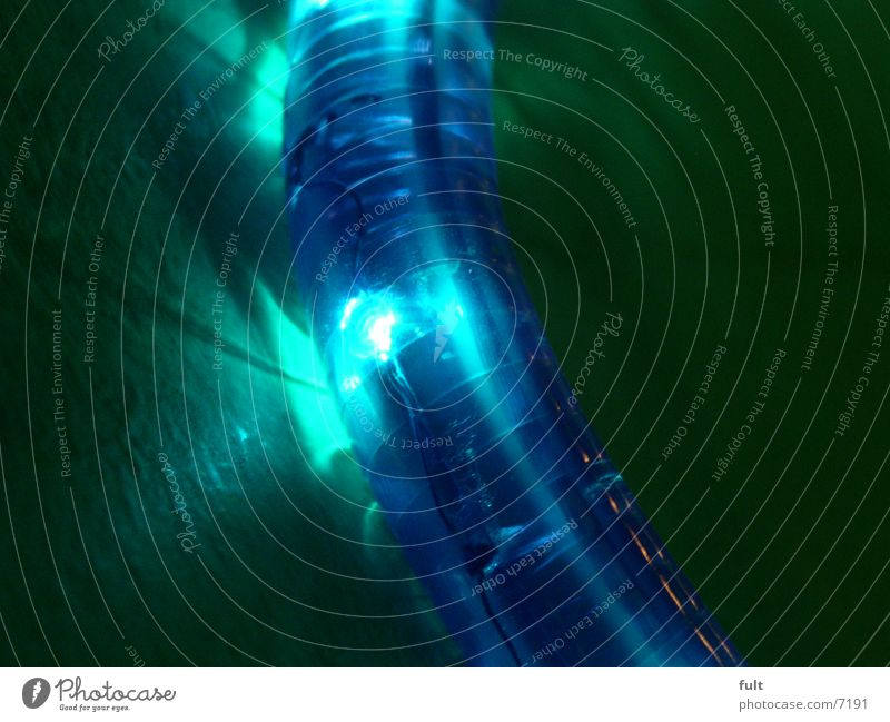 lichtschlauch Lichtschlauch Makroaufnahme grün gekrümmt Stil Dinge blau Kunststoff Lampe
