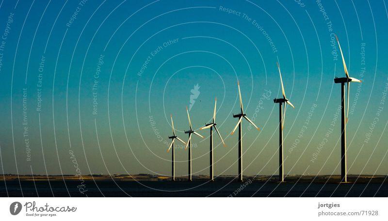 Abends am Fjord #1 Energiewirtschaft Technik & Technologie Erneuerbare Energie Windkraftanlage Umwelt Klima Klimawandel Küste Erdöl dreckig nachhaltig