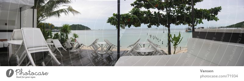 The Place to be Meer Regen groß Aussicht Bar Panorama (Bildformat) Thailand