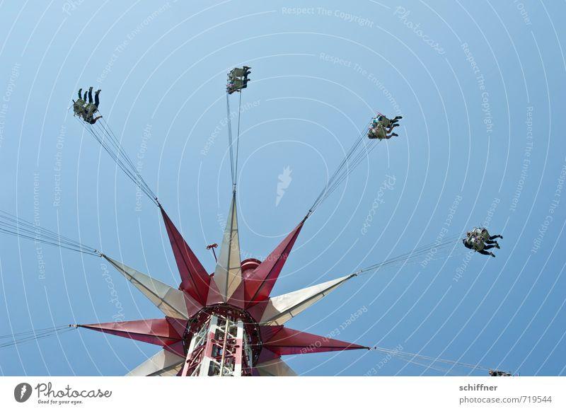 Trockenheit | Hoch-Trockenschleuder Lifestyle Freizeit & Hobby Veranstaltung Jahrmarkt Mensch Menschengruppe fliegen schaukeln Fahrgeschäfte Kettenkarussell