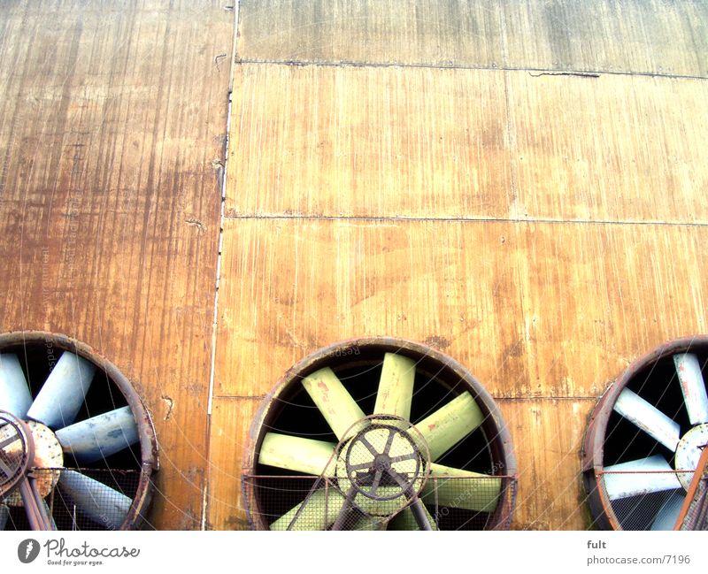propeller grün blau Metall 3 Industrie Rad Stahl Drehung Propeller Lüftung Ventilator