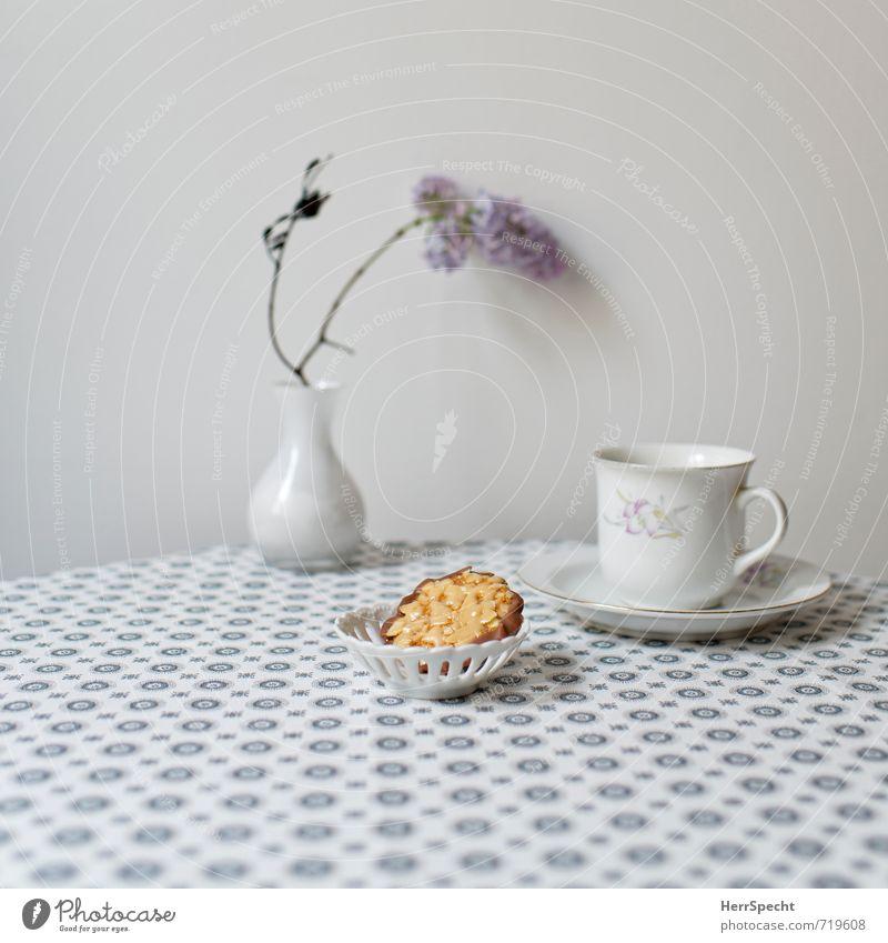 Afternoon Tea schön grau Lebensmittel Häusliches Leben Ordnung Dekoration & Verzierung Getränk Tisch Sauberkeit retro Kaffee Süßwaren Tee gemütlich Schokolade Tischwäsche