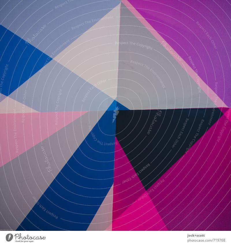 Fasson Farbraum Design Grafik u. Illustration Dekoration & Verzierung Kreuz Netzwerk Dreieck Rechteck Ecke Quadrat ästhetisch eckig trendy einzigartig modern