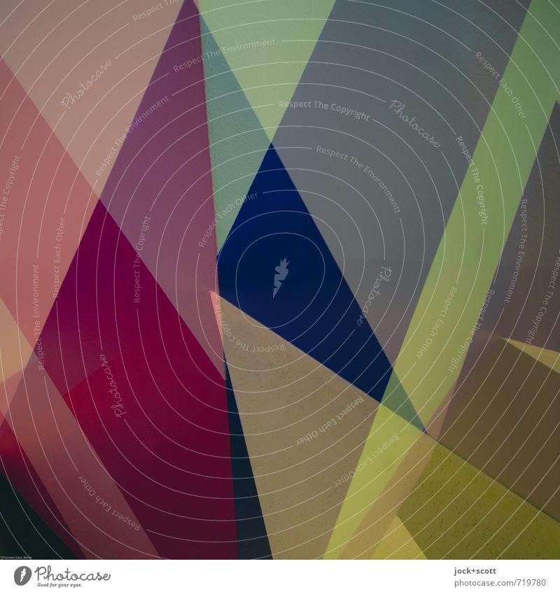 Option Stil Grafik u. Illustration Dekoration & Verzierung Kunststoff Ornament Netzwerk Dreieck Strukturen & Formen ästhetisch eckig exotisch einzigartig modern