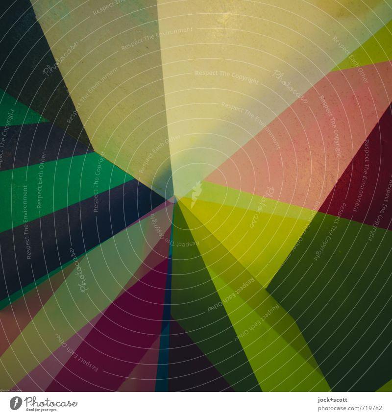 Ass Farbraum Grafik u. Illustration Strukturen & Formen ästhetisch eckig einzigartig Farbe innovativ Kontakt Netzwerk Symmetrie Doppelbelichtung Mischung