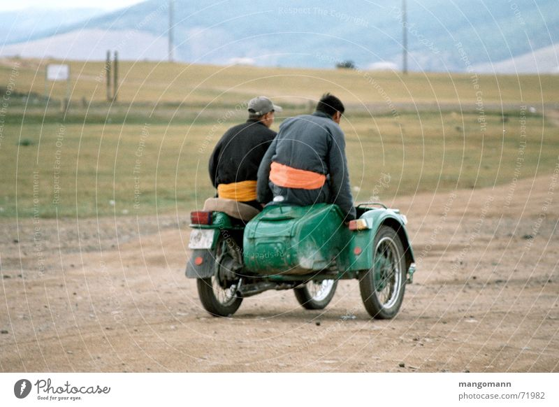 Ural Motorcycling Mensch Natur Straße Asien Motorrad Steppe Mongolei Beiwagen