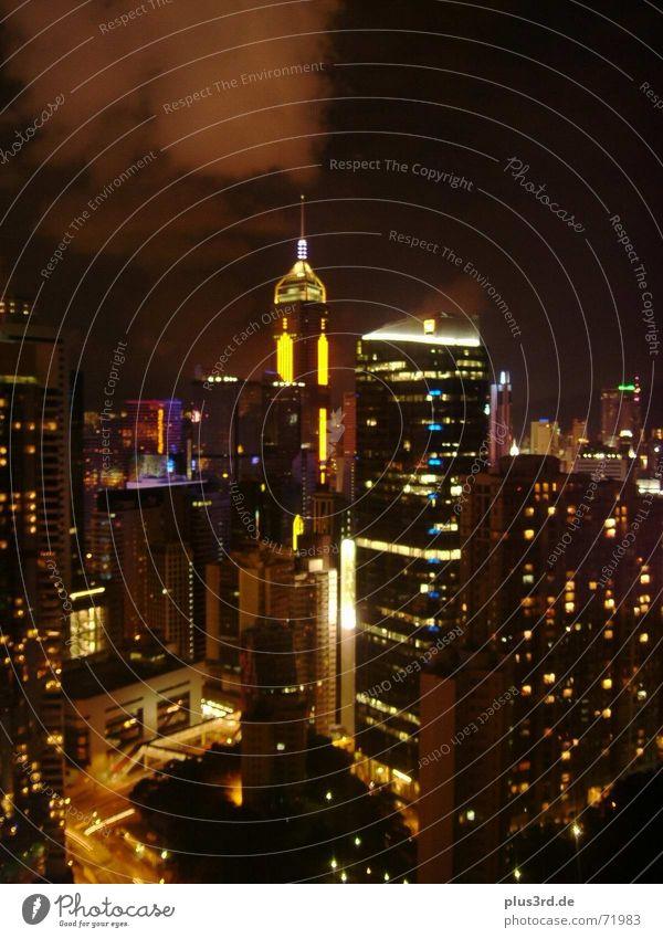 Hong Kong at night Hongkong Hochhaus Nacht faszinierend Panorama (Aussicht) Langzeitbelichtung Licht überweltigend groß