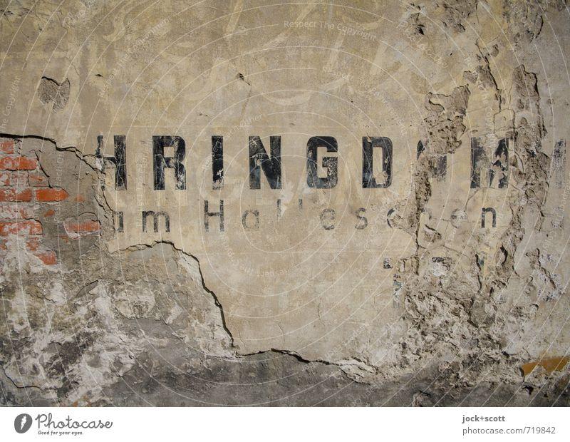 HRINGDAM Werbung Typographie Kreuzberg Mauer historisch Originalität braun Nostalgie Tradition Vergangenheit Vergänglichkeit Zerstörung altehrwürdig