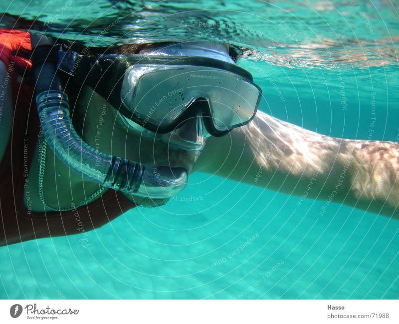 Blubb Blubb Wasser Meer Sommer Ferien & Urlaub & Reisen Wärme Sand Physik tauchen Frankreich Erfrischung kühlen Mittelmeer Schnorcheln Tauchgerät Meeresboden