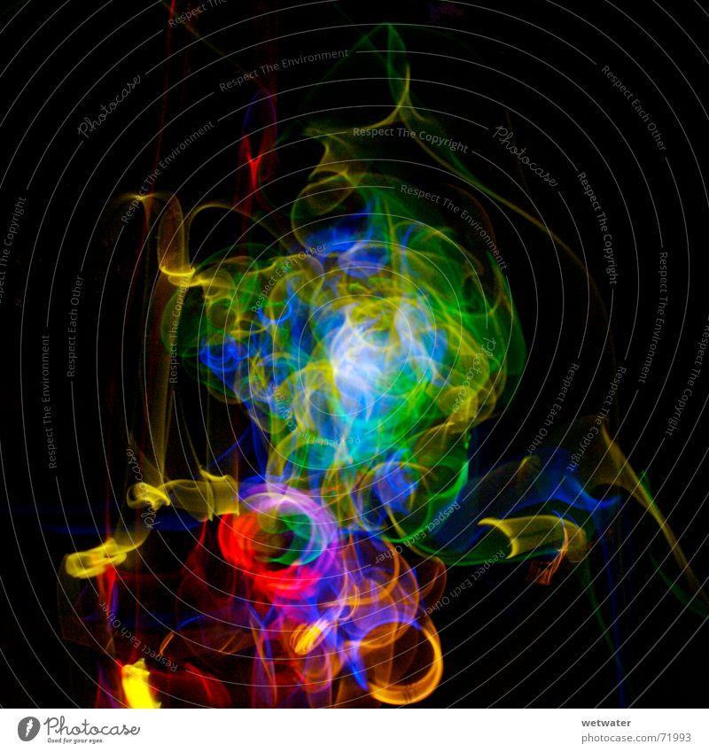 Lightstorm grün blau rot schwarz Farbe dunkel Spielen Brand Ausflug Kreis Spuren Rauschmittel Neonlicht Schwanz Zauberei u. Magie Lichtspiel