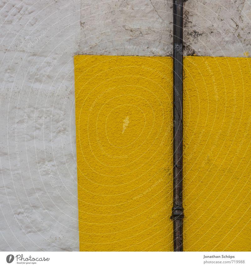 die gelbe Ecke weiß Farbe Haus Wand Mauer hell Hintergrundbild einfach Neigung Dorf graphisch eckig gerade Geometrie
