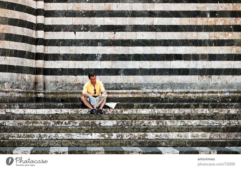 Siesta ruhig Zeitung Italien Streifen Pause Momentaufnahme Kathedrale Orvieto