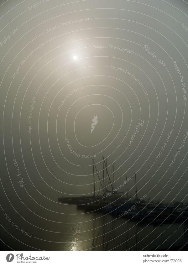 steg im nebel Steg Nebel See Meer Wasserfahrzeug Anlegestelle Morgen Reflexion & Spiegelung Sonnenaufgang Hafen Morgendämmerung reflektion
