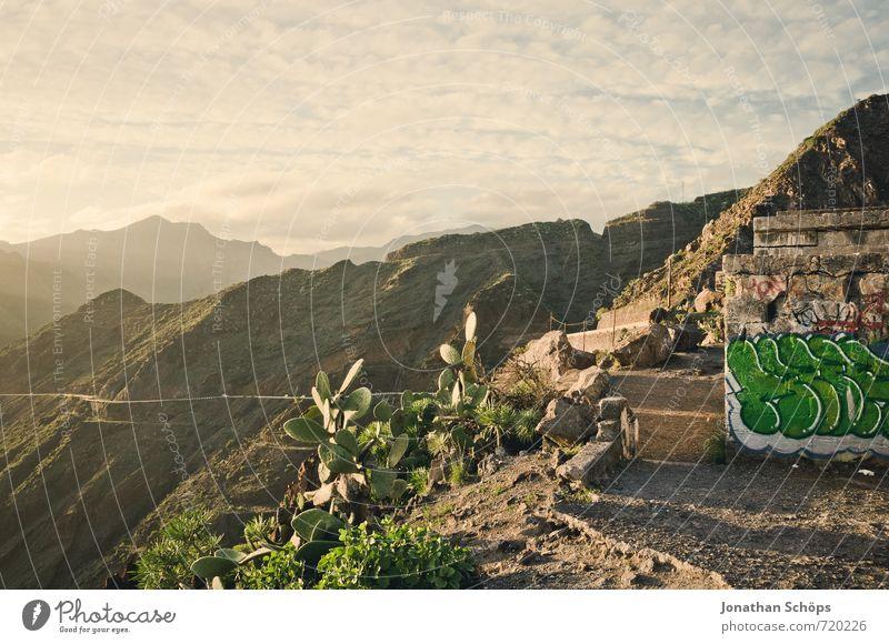 San Andrés / Teneriffa XXI Himmel Natur Ferien & Urlaub & Reisen Sonne Landschaft Haus Ferne Umwelt Berge u. Gebirge Wärme Graffiti Reisefotografie Felsen