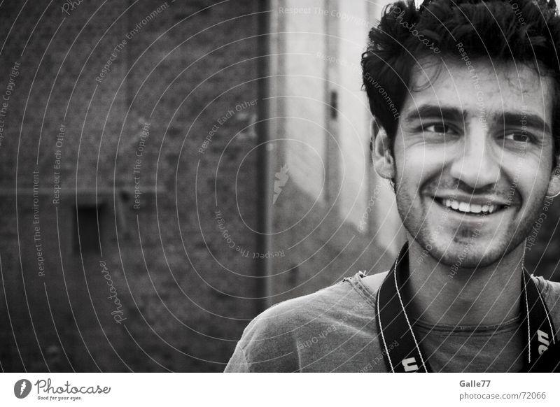 Lucky man Freude lachen Fröhlichkeit grinsen Anschnitt Haarschnitt Ehrlichkeit Porträt