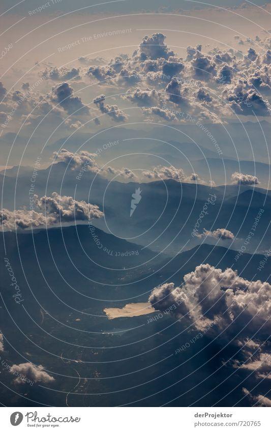 Wolken über Korsika Himmel Natur Ferien & Urlaub & Reisen Sommer Landschaft Ferne Umwelt Berge u. Gebirge Straße Gefühle Freiheit Felsen Freizeit & Hobby