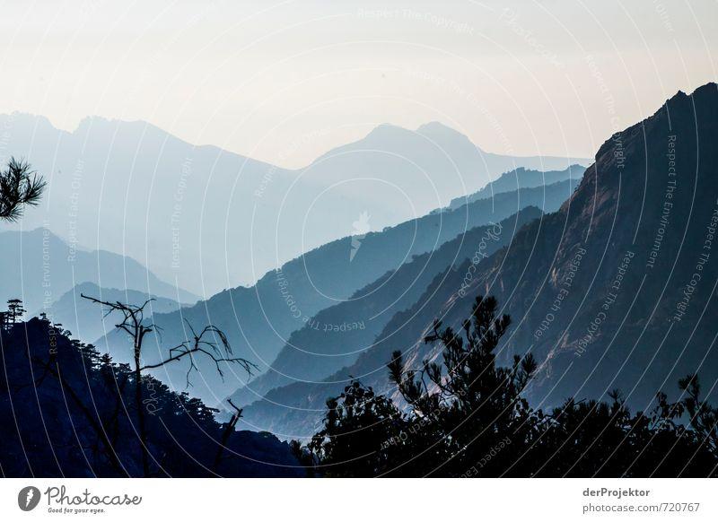 Sonnenuntergang GR20 auf Korsika Freizeit & Hobby Ferien & Urlaub & Reisen Tourismus Ausflug Abenteuer Ferne Freiheit Expedition Berge u. Gebirge Umwelt Natur