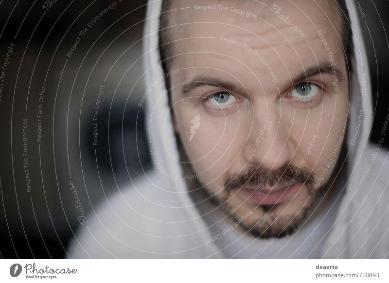 Mensch Jugendliche Mann Junger Mann Einsamkeit Gesicht Erwachsene Leben Stil Lifestyle Stimmung maskulin Zufriedenheit verrückt Kreativität beobachten