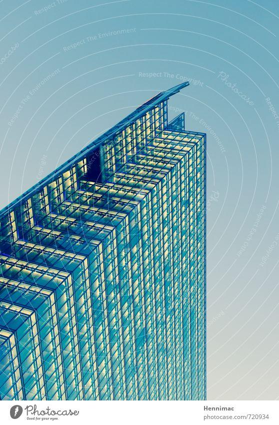 Karriereende. Himmel blau Stadt Fenster Architektur Gebäude Arbeit & Erwerbstätigkeit Fassade Business Büro Design Hochhaus Erfolg hoch Güterverkehr & Logistik