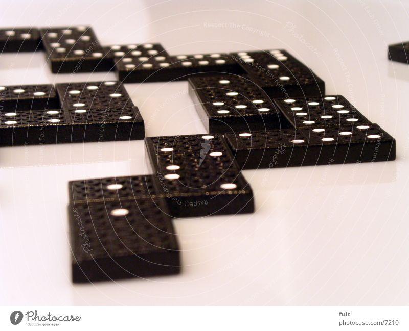 domino Domino Spielen schwarz Holz ankern nebeneinander Dinge Stein Punkt puzzel Technik & Technologie liegen Freude unterhalung modern