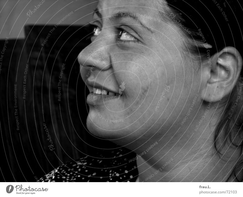 Lächeln Mensch Frau Freude Gesicht Auge feminin lachen weich