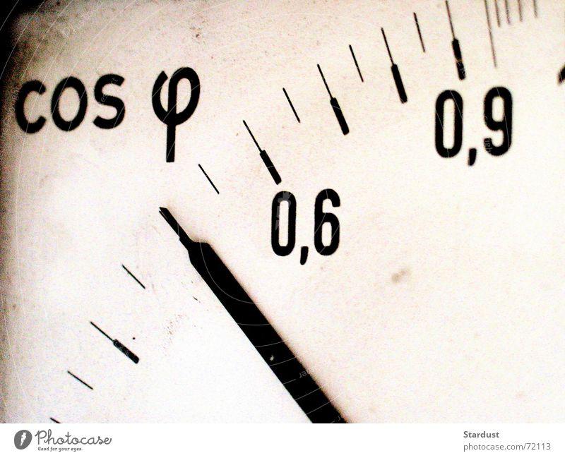 Cosinus Phi Elektrizität Technik & Technologie Anzeige Messinstrument Skala