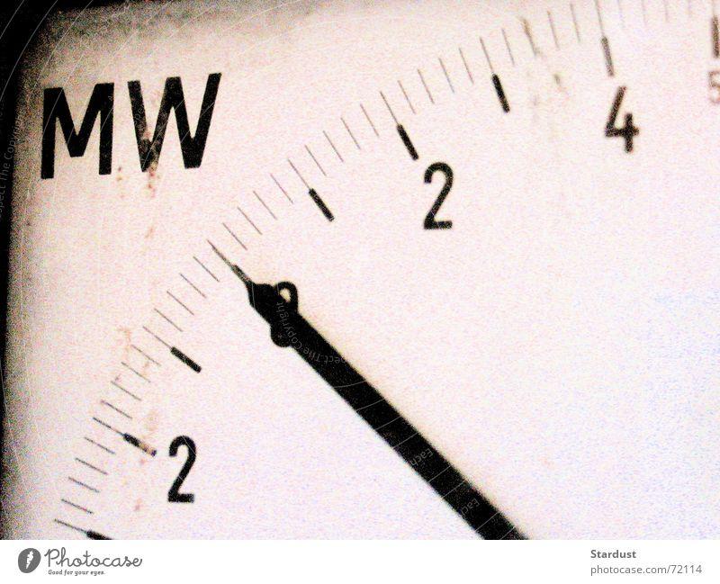 Megawatt Messinstrument Skala Elektrizität Technik & Technologie Leistung Wattenmeer Anzeige