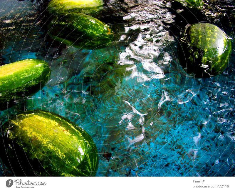 wassermelonen Wasser grün blau frisch Appetit & Hunger spritzig Wassermelone