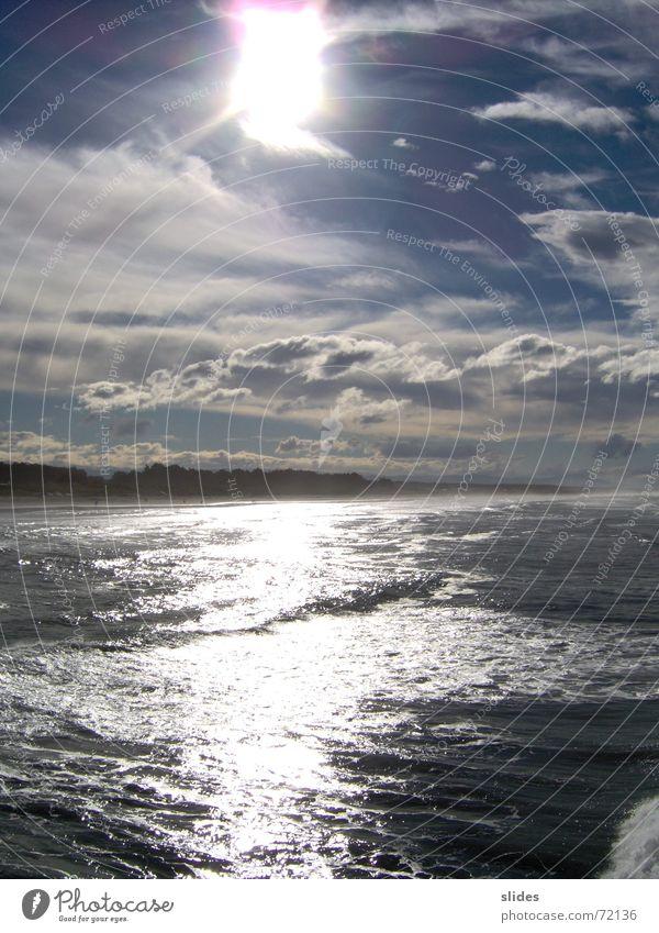 Sky touched the Sea Sonne Strand Meer Wasser Himmel Wolken Schönes Wetter Wellen Küste Bucht Tourismus Umwelt sky sun sea clouds Farbfoto Außenaufnahme