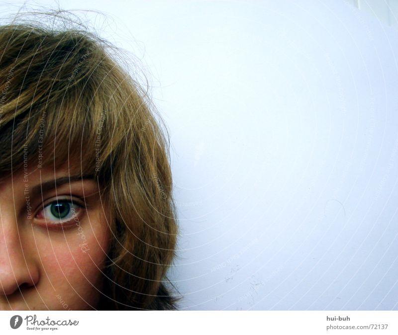 das letzte ICH Mensch Einsamkeit Freiheit Haare & Frisuren Zusammensein Nase Ohr wenige Augenbraue Haarschnitt Sinn neutral Aussage