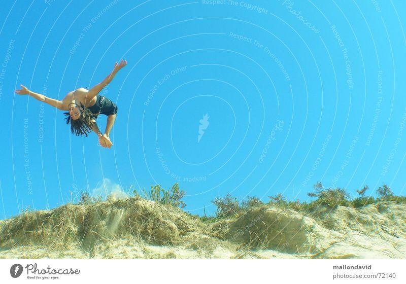 sand diving Strand Sommer springen Sport Stranddüne fliegen Freude Geschwindigkeit