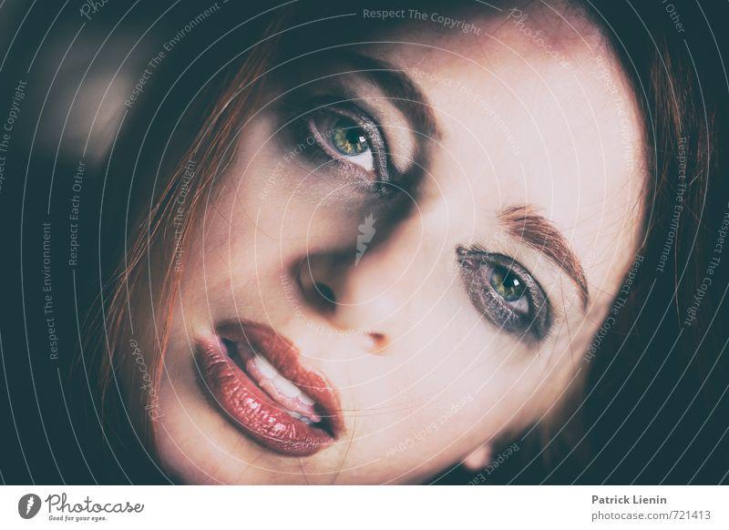 Schau mir in die Augen elegant Stil Gesundheit Wellness Leben harmonisch Wohlgefühl Zufriedenheit Sinnesorgane Erholung Mensch feminin Frau Erwachsene Haut Kopf
