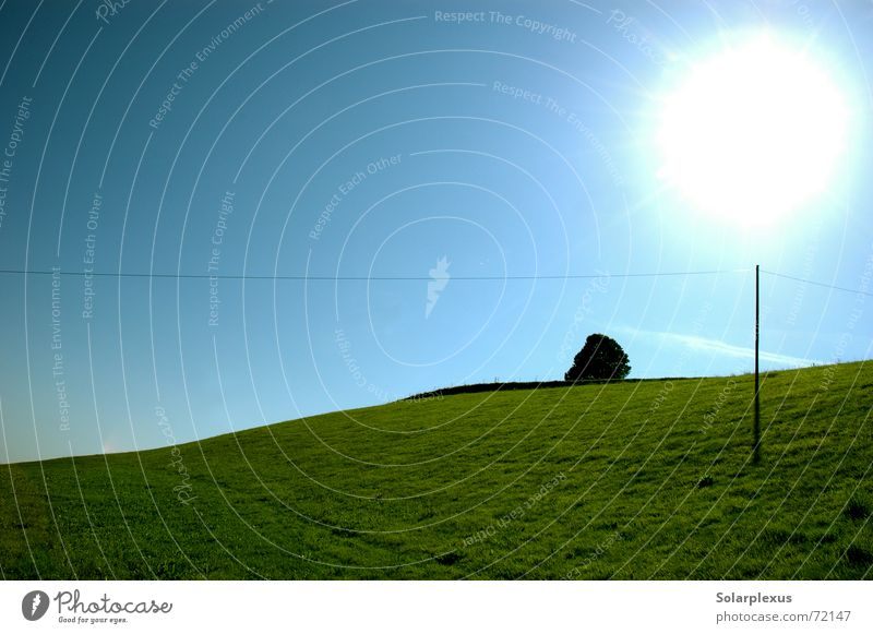 Schattenspender Sonne Horizont Stromtransport Morgen Bodenerhebung Zauberstab Lichtkugel
